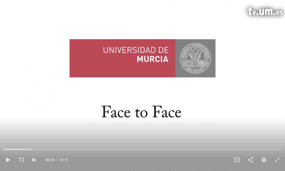pantallazo video entrevista FAce to Face Universidad de Murcia