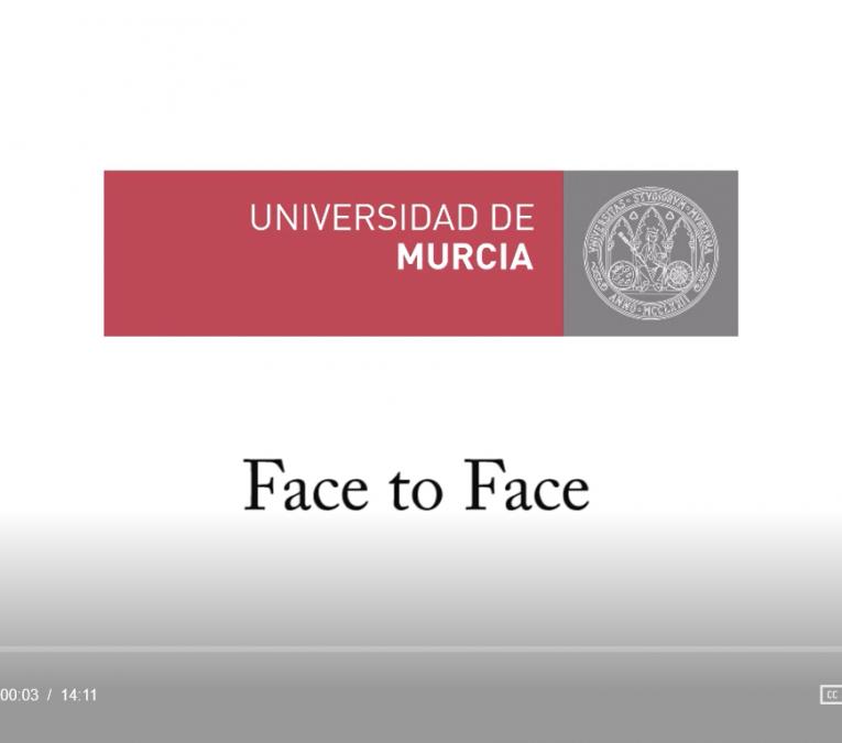 pantallazo video entrevista FAce to Face Universidad de Murcia