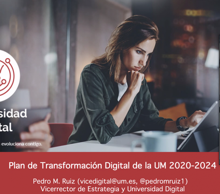 Diapositiva de la presentación del Plan de Transformación Digital