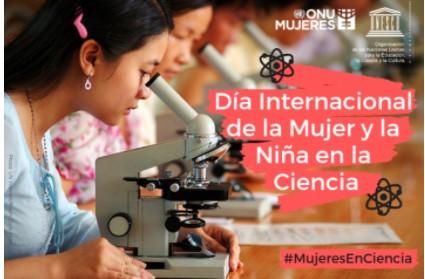 Cartel Dia Internacional de la mujer y la niña en la ciencia