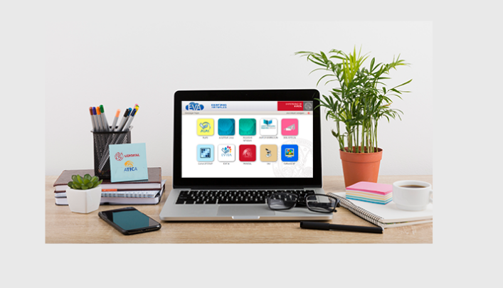 escritorio con portatil